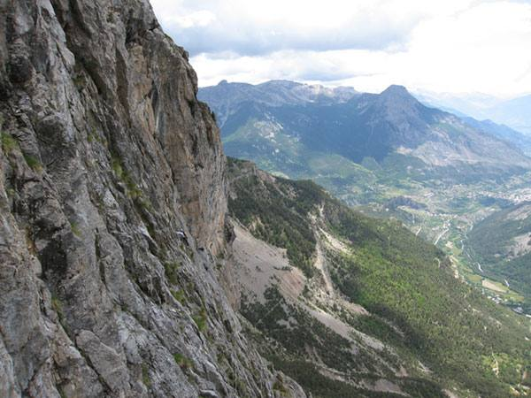 The view from the upper traverse.