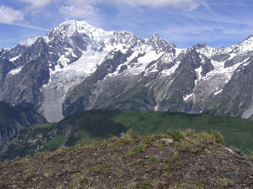 Panorama sul Monte Bianco.