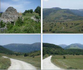 I Tholos;verso Pianagrande e BlockHaus;verso il Morrone;verso M.Rapina e Pescofalcone