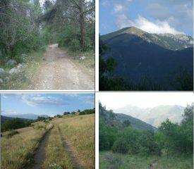 1)sterrata iniziale 2)verso Monna di Popoli 3) e 4) in V.Gemmina verso il Cappucciata.
