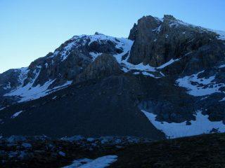 il severo versante Ovest del Pic de la Font Sancte (22-6-2008)