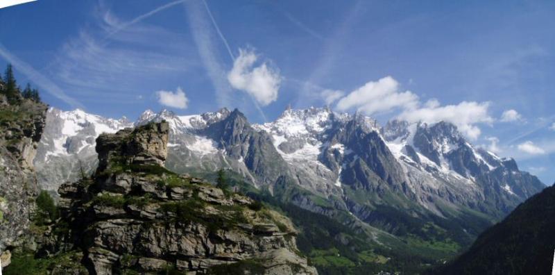 Vista panoramica sul Bianco dalla cima