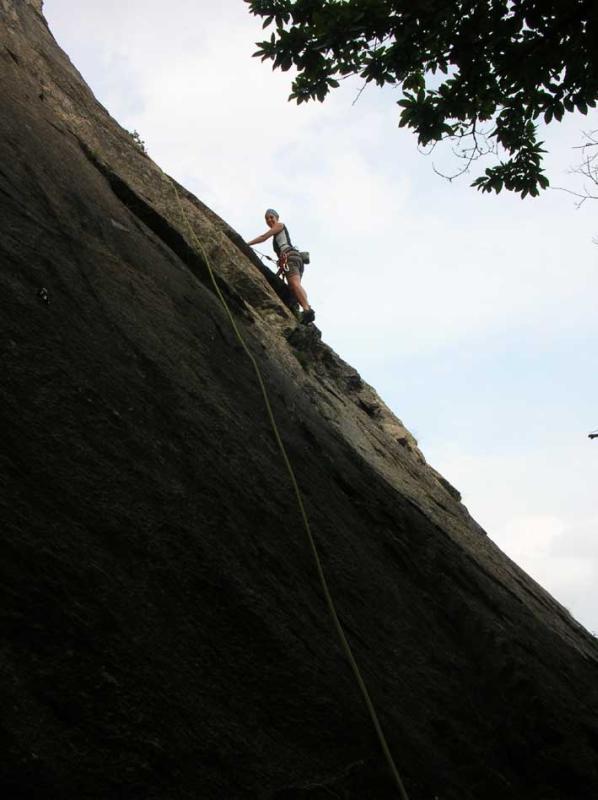 in arrampicata su bagheera
