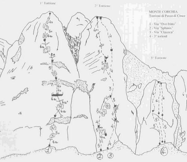 Corchia (Monte) Primo torrione di Passo Croce - Ovo Fritto 2007-07-05