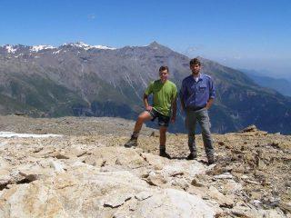 Simone ed io sulla cima di Bard, con alle spalle il Rocciamelone