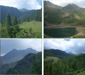 1)radura sotto il Lago Erdemolo 2)Lago e Hoaspitz 3)Sasso Rotto e C. Sette Selle 4)V.Laner (Intertol)