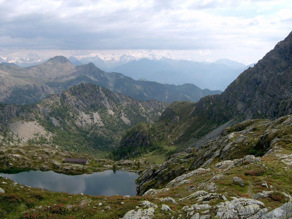 Il lago Vercoche , visto dall'alto