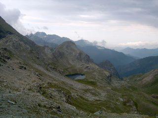 Il versante di Piamprato con il Lago della Reale