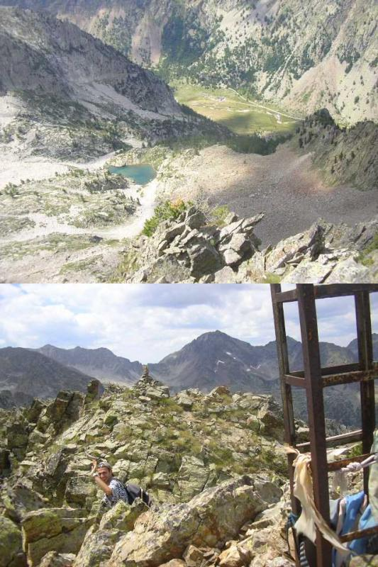 1 dalla cima il lago di Valcuca ed il Pian Valasco 2 Marco saluta la croce e comincia la discesa
