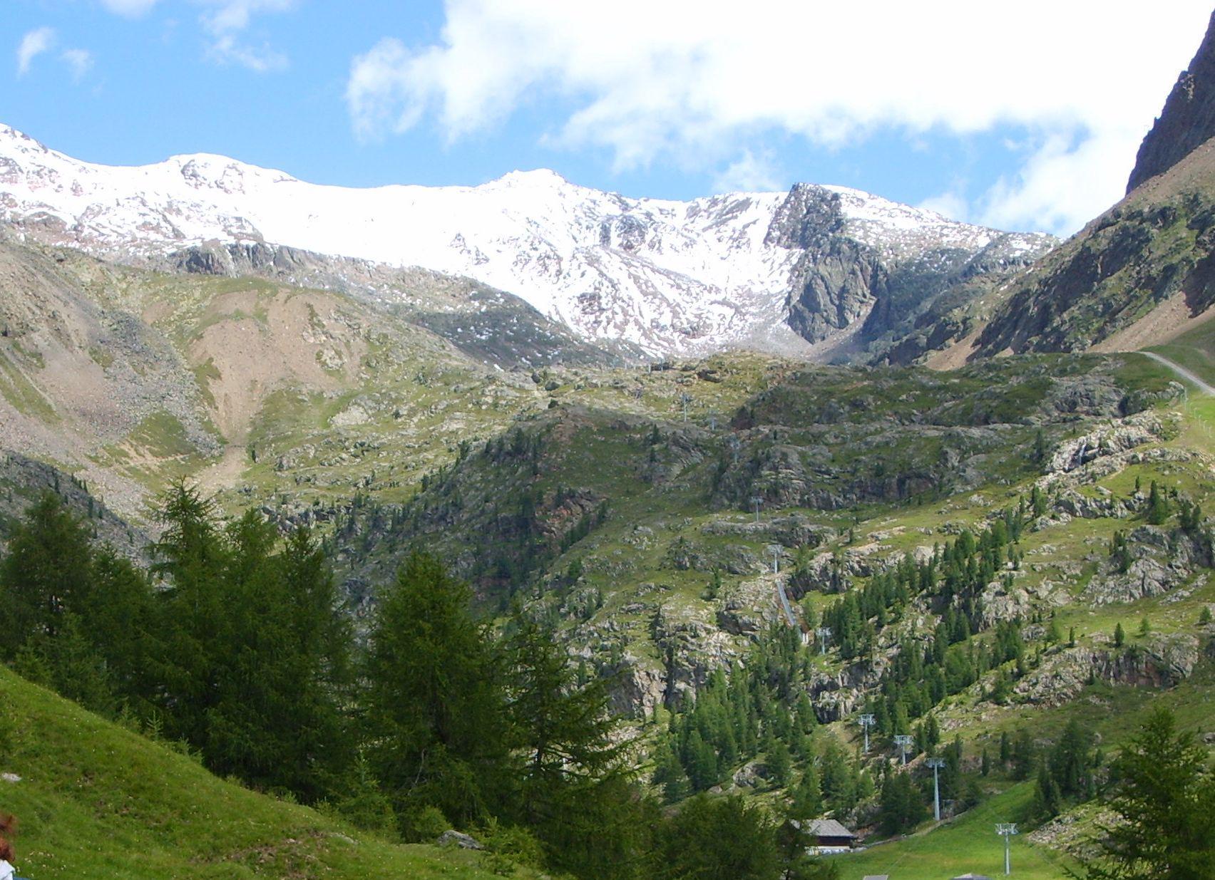 In cima alla val Senales