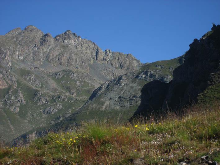 Il Monte Orsiera con la cresta Dumontel
