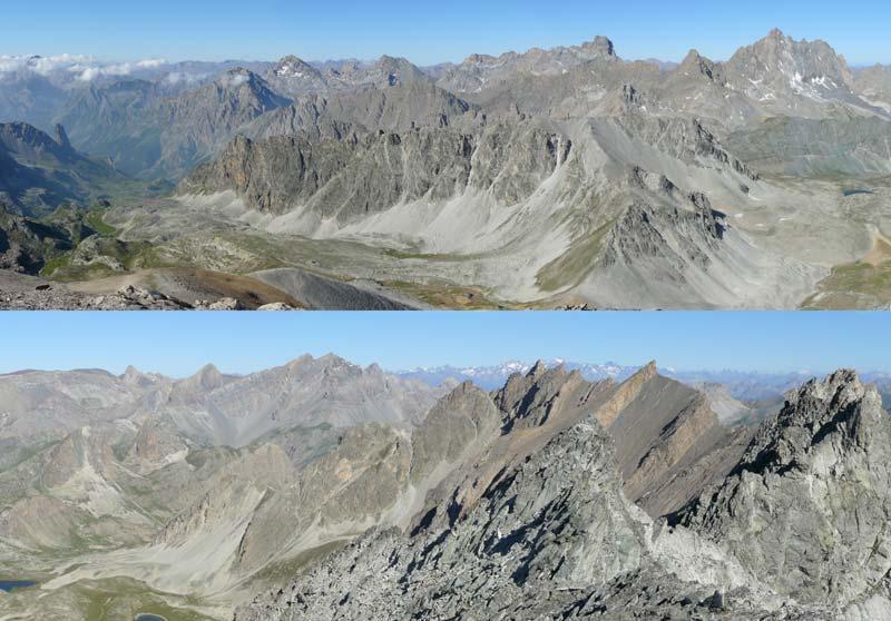 Vista verso Ovest (in alto) e Nord (in basso)
