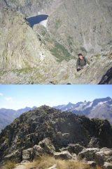1 Super arranca nel tratto finale 2 dalla cima verso la Sudest e sullo sfondo Maledia-Gelas