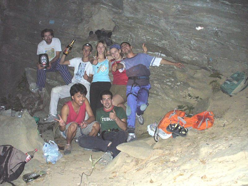 foto di gruppo al I° Bouscas vertical party
