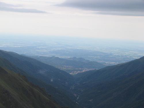 la valle cervo vista dalla parete della madonnina