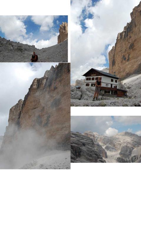 il rifugio; nuvolone di polvere dopo il crollo