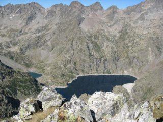 dalla vetta verso i laghi