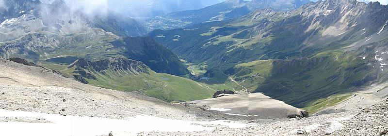 Panoramica del Vallone di Ollomont dalla Tête Blanche