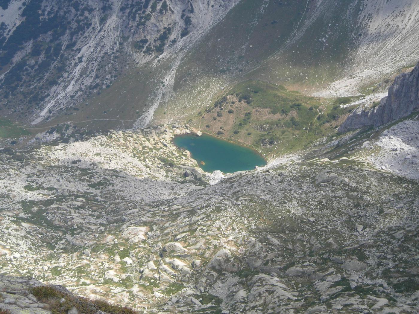 dalla cima vista sul lago superiore
