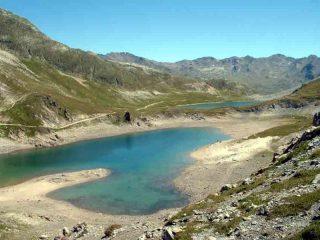 Lac Grand Ban e Lac Rond visti dal Col des Rochilles