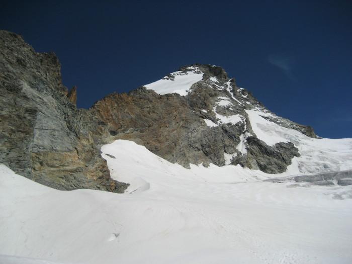 La montagna vista dal Glacier des Grandes Murailles