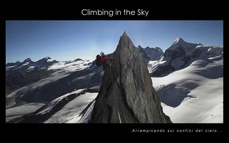 Climbing in the sky