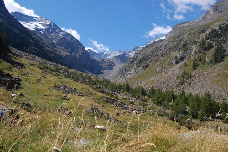 dall'alpe valeille verso la testata del vallone