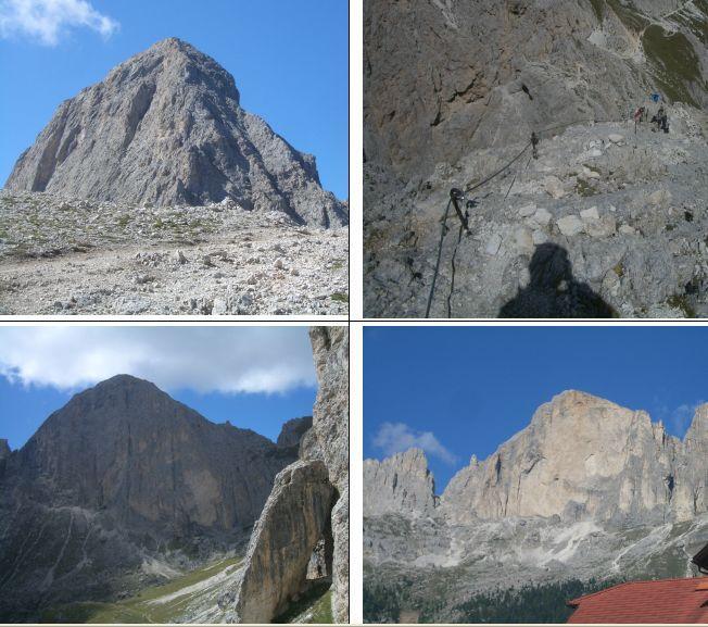1)Cresta Nord 2)relativa ferrata 3)parete Est 4)parete Ovest