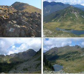 1)Forcella Frate e Ziolera 2)Lago Buse 3)C.Stellune e forcella di V. Moena 4)L.Stellune e Busa Grana