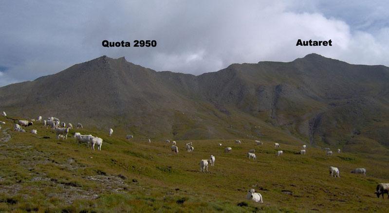La cresta che parte dal Colle Autaret