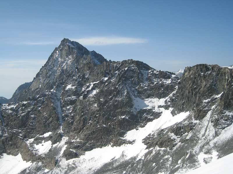 Bessanese vista dal ghiacciaio del Collerin