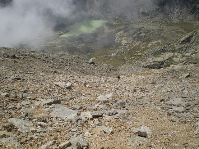 scendendo dalla cresta dei prosces al lago inf di ciamosseretto