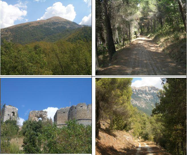 1)Schiena d'Asino del Morrone 2)Forestale 3)Castello 4)Monna di Popoli