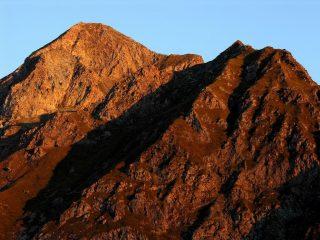 prime luci del sole sul Mont Glacier (9-9-2007)