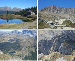 1)Iuribrutto e Bocche oltre il lago Colbricon 2)Colbricon Piccolo 3)Laghi Colbricon da vetta 4)Gallerie per la guerra di mine