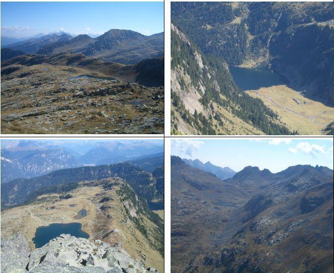 1)L.Bombasel e C.Formion sullo sfondo 2)L.Lagorai 3)L.Bombasel dalla vetta 4)C. Lagorai