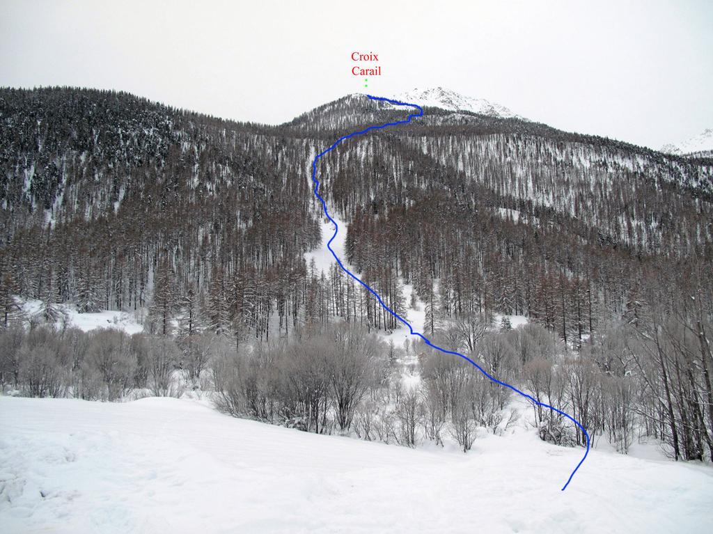 Itinerario dal parcheggio del teleski bois noir
