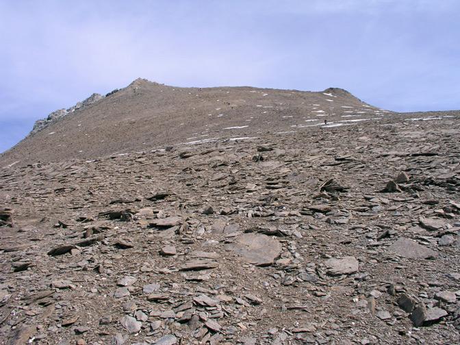 paesaggi lunari verso la cima del Taou Blanc