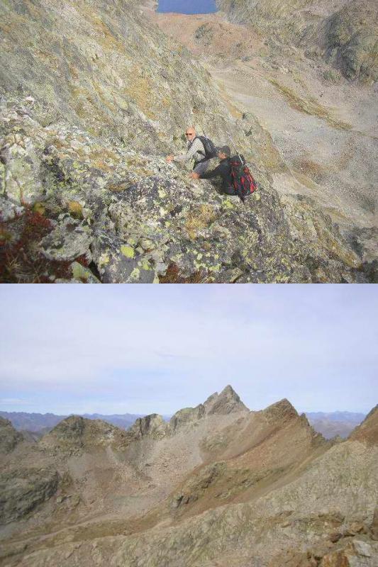 1 ultimo tratto in salita 2 dalla cima verso la La Paur