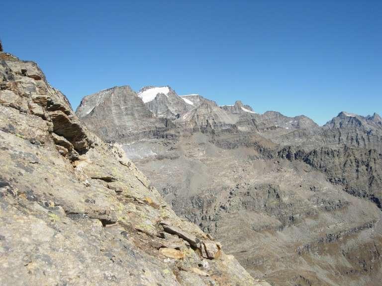 Ciarforon e Granpa visti dalla cresta sommitale