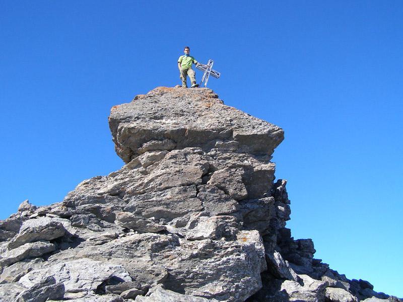 Le rocce sommitali del Ghinivert