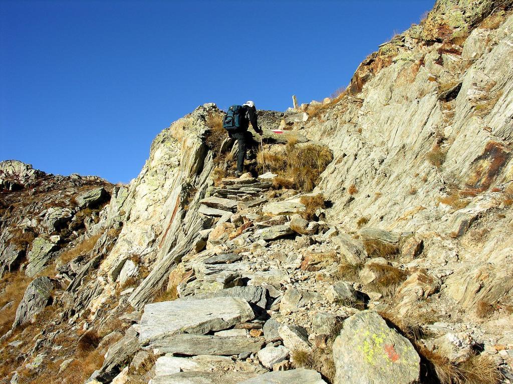 ultimi metri di sentiero prima di raggiungere il Col Longet (14-10-2007)