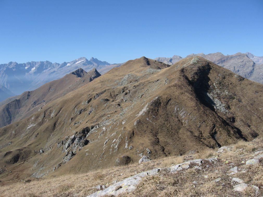 Il Monte La Rossa, visto  dalla Punta dell'Aggia