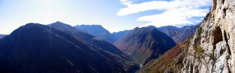 Panorama sulla Val Sorba-Rassa