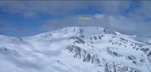 Pic Mayà visto dal Pic dels Pedrons