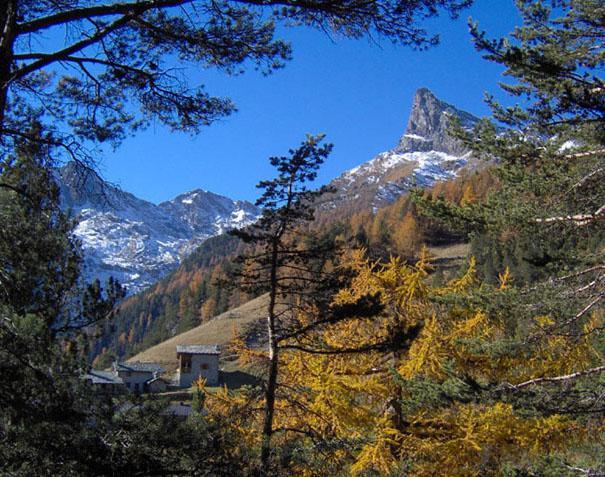 Il Monte Avic salendo all?alpe Pra Oursi