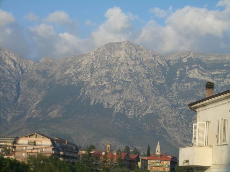 il Morrone di Pacentro visto da Sulmona