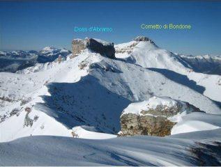 Cornetto di Bondone e Doss d'Abramo ,visti dalla Cima Verde