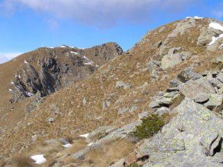 La cresta da verso la Punta Nord