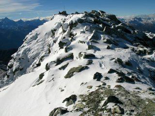 la cresta sommitale del Faroma, a pochi minuti dalla vetta (11-11-2007)